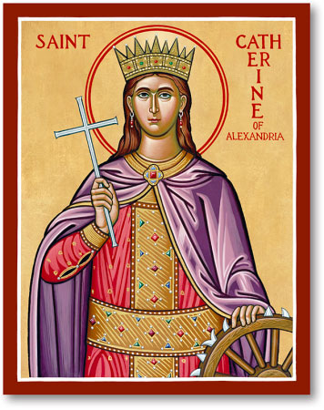 - Invocation of St. CatherineST. CATHERINE, glorious Virgin and Martyr, resplendent in the luster of wisdom and purity; thy wisdom refuted the adversaries of Divine truth and covered them with confusion; thy immaculate purity made thee a spouse of Christ, so that after thy glorious Martyrdom Angels carried thy body to Mount Sinai. Implore for me progress in the science of the Saints and the virtue of holy purity, that vanquishing the enemies of my soul, I may be victorious in my last combat and after death be conducted by the angels into the eternal beatitude of Heaven. Amen.