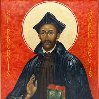 Prayer on the Feast of St. John Francis Regis - O God, whose priest, Saint John Francis Regis, a friend of the poor, the sick, and the wayward, eagerly desired to evangelize the peoples of North America; grant, we ask, that we who serve You in his place may be filled with his same spirit of zeal. Amen.
