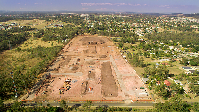 View from Western End towards East of Greenwood Village under construction.png