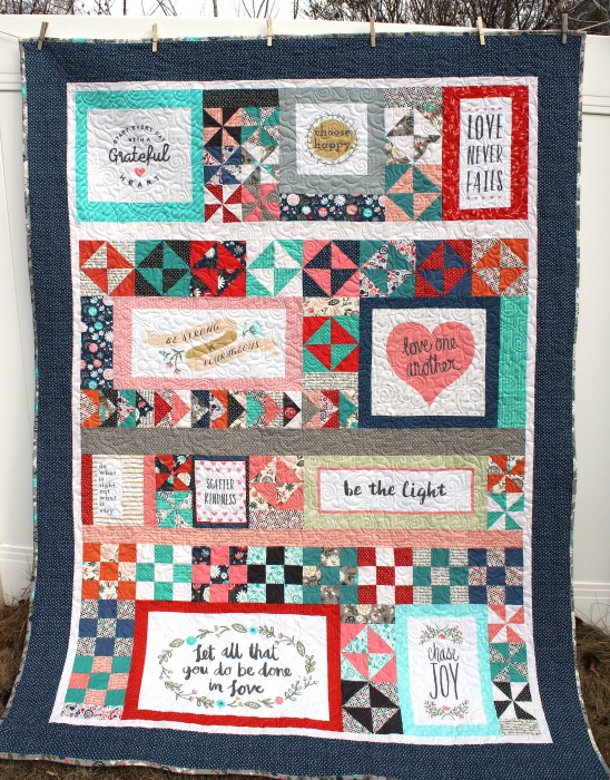 Amy Smart at  Diary of a Quilter  pieced this beautiful quilt. We look forward to her pattern coming out soon!