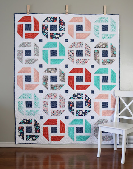 Andy Knowlton at  A Bright Corner  made this beautiful quilt