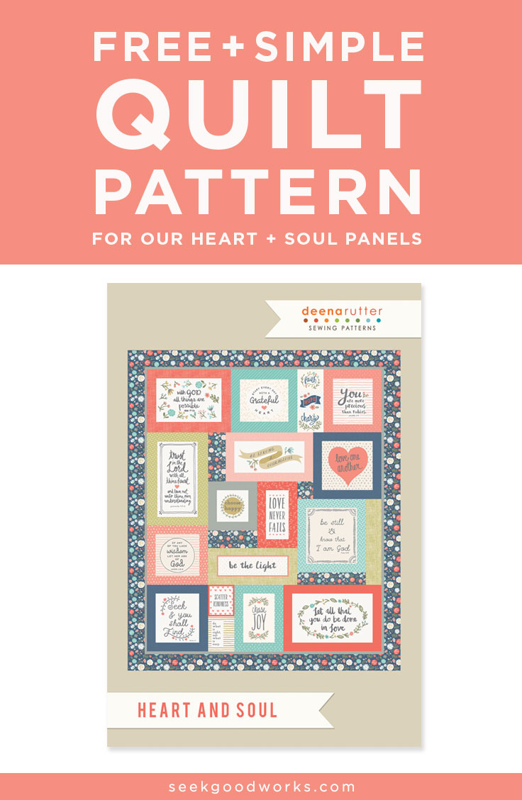 heart and soul panel QUILT PATTERN  - This heart and soul panel makes it easy to have a beautiful keepsake in not much time at all. get your free pattern here.