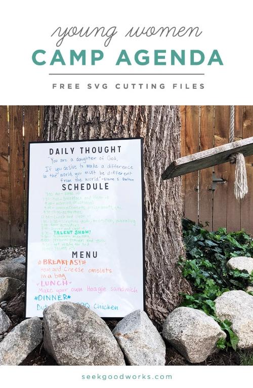 seek good works - free cutting files - camp agenda