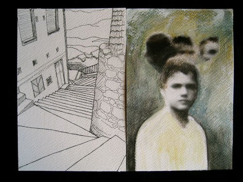 Views of alleyways and old photos