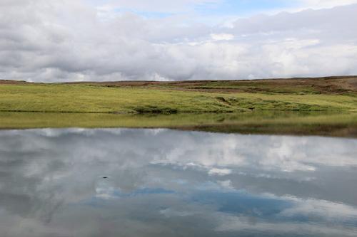 Laugavatn, Iceland - reservoir by our farmhouse.