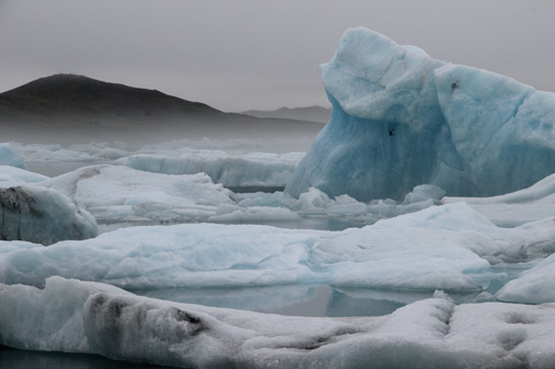 Glacier lagoon, Iceland - floating bergs. No filter.
