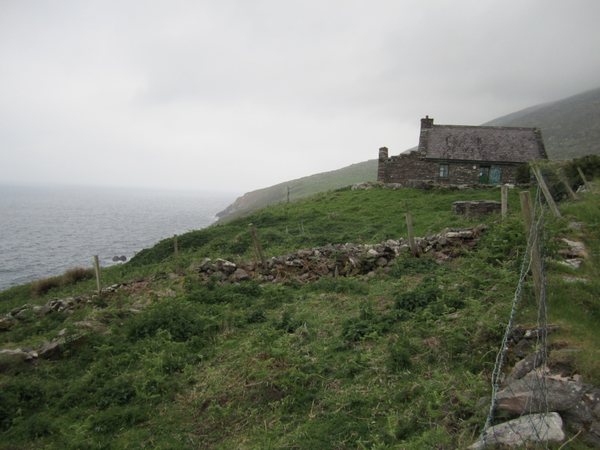 One of the cottages overlooking Ballinskelligs Bay and the North Atlantic.