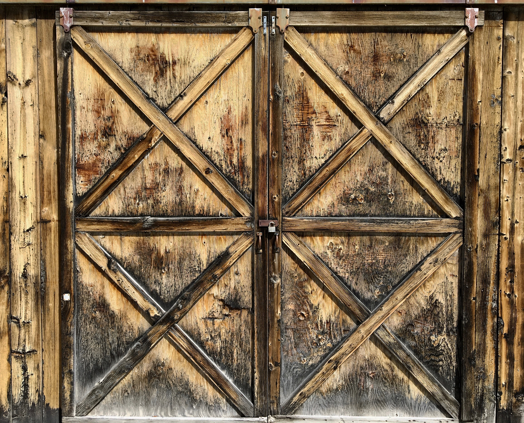Barn doors at Grand Encampment, Wyoming