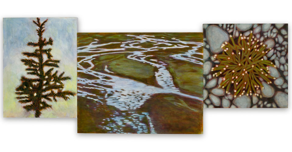 """""""Middle Distance"""" 30"""" x 72"""" 2013 One of the paintings created from her residency at Denali National Park in Alaska."""