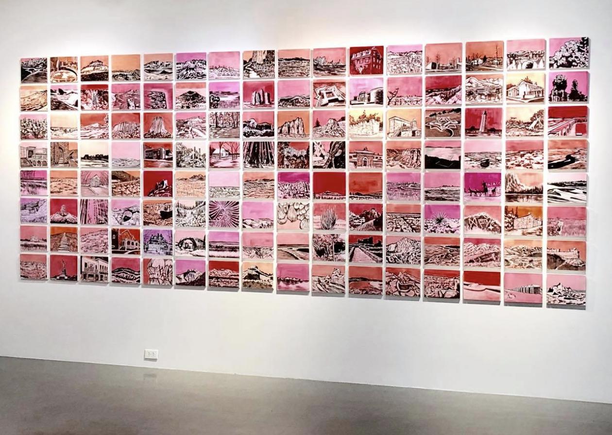 "Trine's installation ""Monumental"" at the CVA Center in Denver. June 2018"