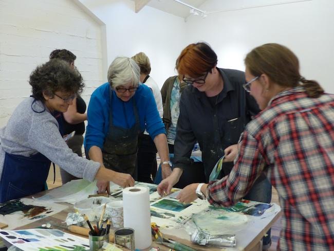 Teaching a workshop at the Baer Art Center residency in Iceland, September 2017.