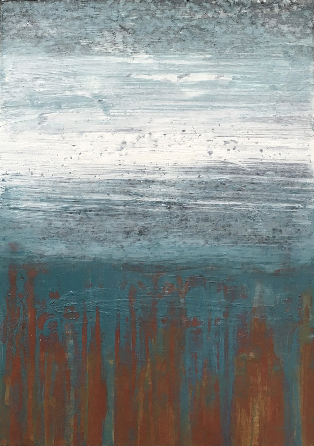 30 Days of Aqua #26 Acrylic on panel. 2018 ©Amy Guion Clay