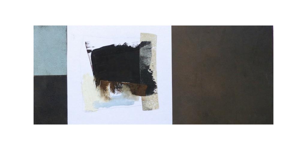 Iceworks 5 · 12 x 28 · Oil & Cold Wax on Panel © 2018 Janice Mason Steeves
