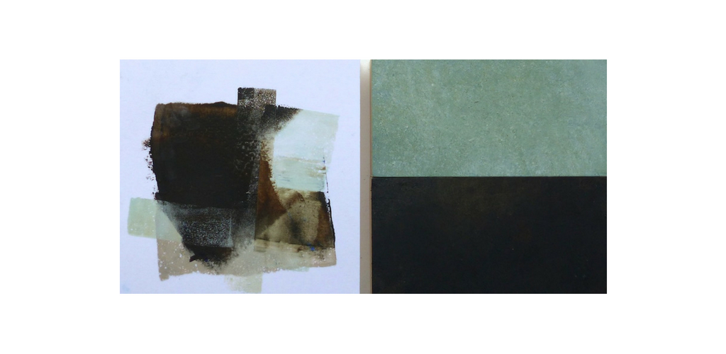 Iceworks 54 · 12 x 24 · Oil & Cold Wax on Panel © 2018 Janice Mason Steeves