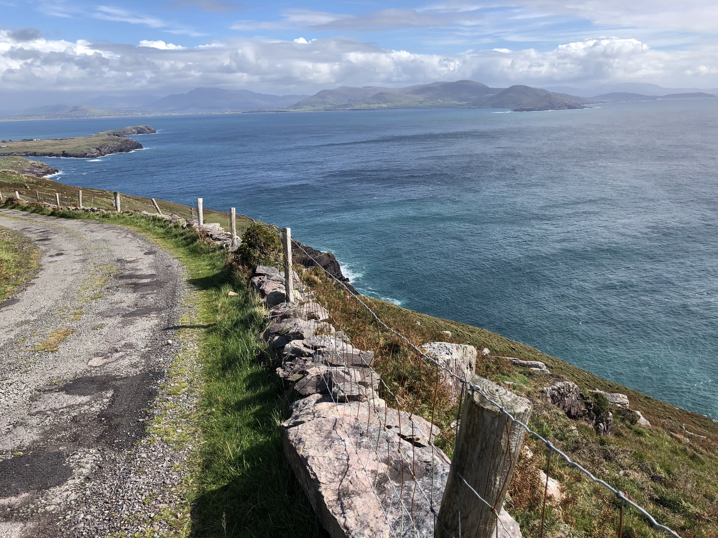 Looking back on the road up to Bolus Head.