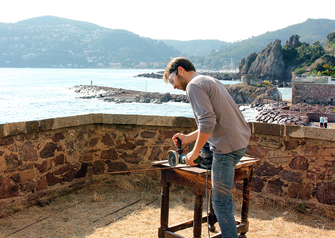 Working along the Mediterranean at La Napoule Residency in the south of France.