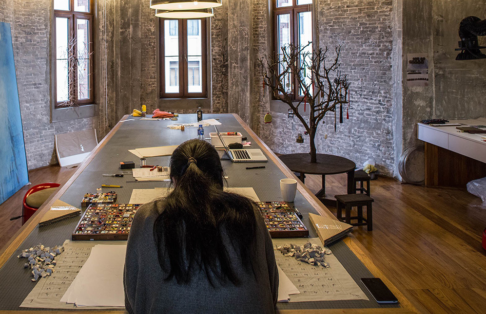 Barbara Tong in residence at Swatch Art Peace Hotel in Shanghai 2015
