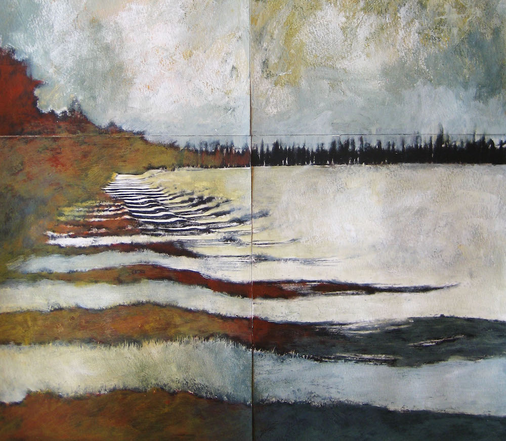 Morning shadows in Provence. A pieced together painting from my time at 4 Winds Atelier in France 2009 ©Amy Guion Clay