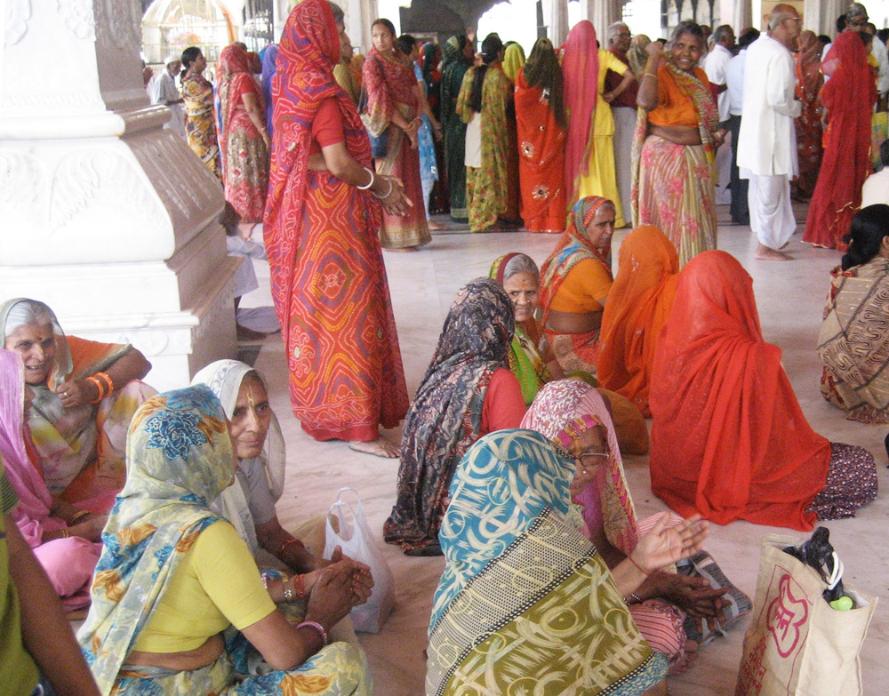 Religious gathering at a Hindu temple in New Delhi, India. Taken during my residency at Sanskriti Kendra, 2010