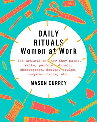 Daily Rituals - Women At Work    I'm a sucker for books about other artist's habits/creative rituals - whatever gets them out of bed in the morning. Whether it's to validate or vindicate my own sometimes rigid, sometimes sloppy practices, I distract myself with the ways other creatives keep from being distracted to go from stasis to studio. Read my full review   HERE: