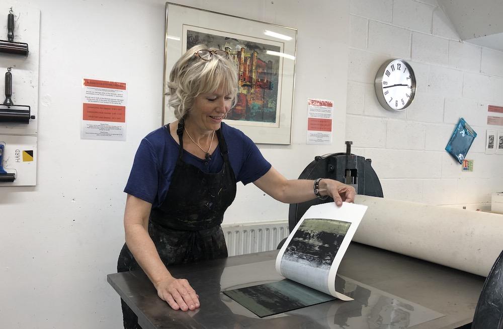 Seeing the result at London Print Studio June 2019