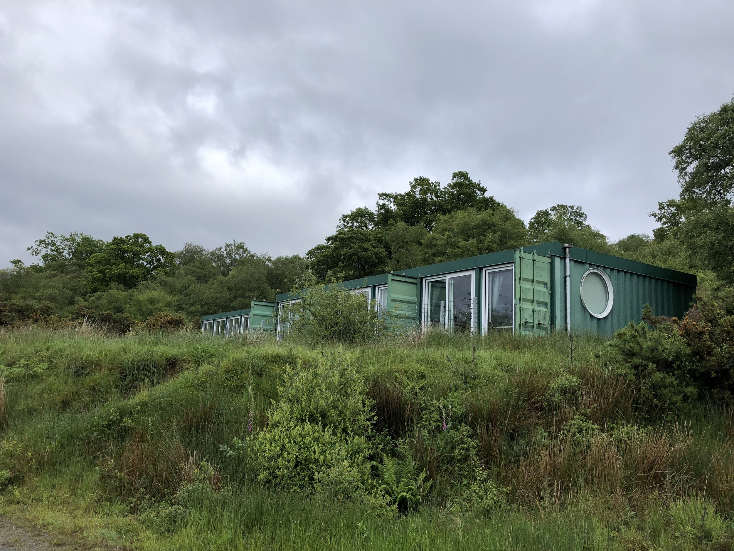 The Cubes - individual self catering living spaces in shipping containers.