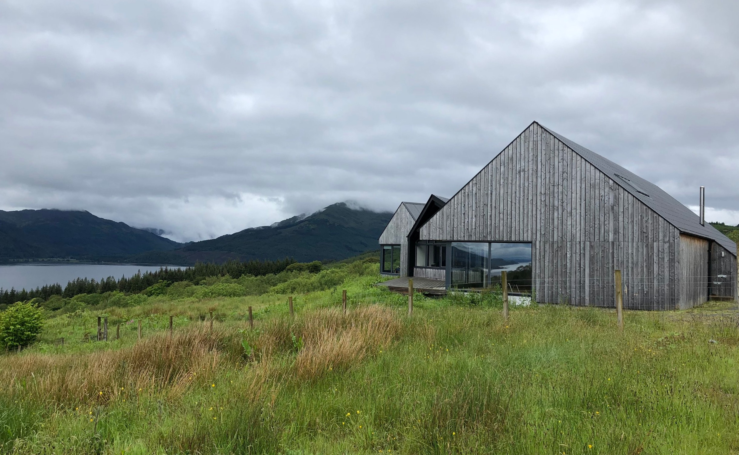 The Artist's Center at Cove Park, overlooking Loch Long, Scotland.
