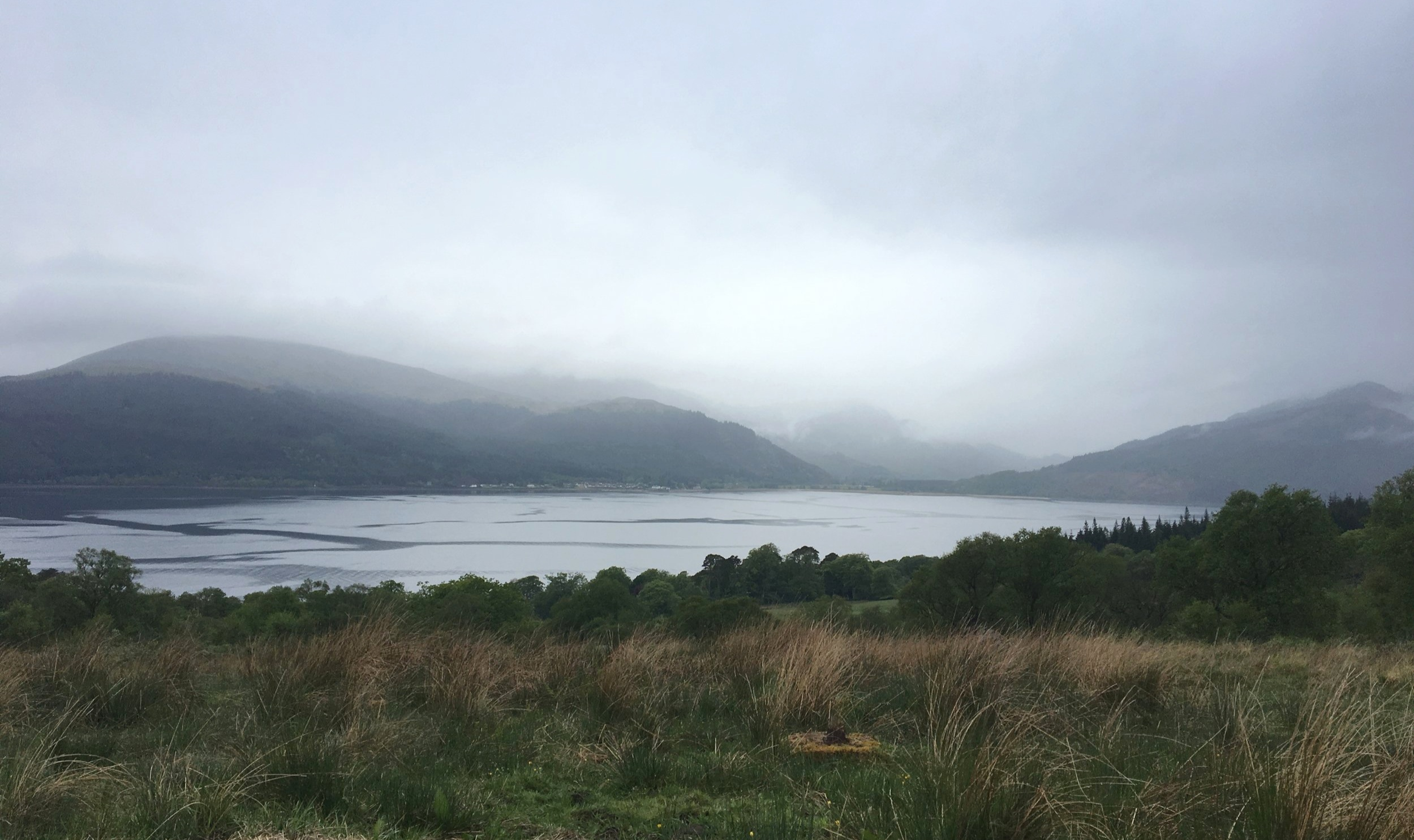 The mists rolling in over Loch Long.