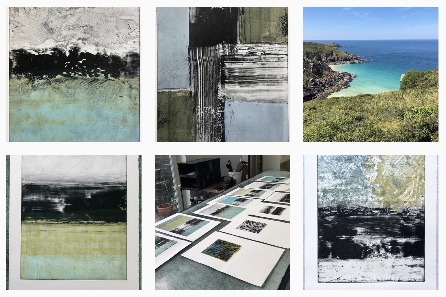 My IG page during my time at London Print Studio June 2019.