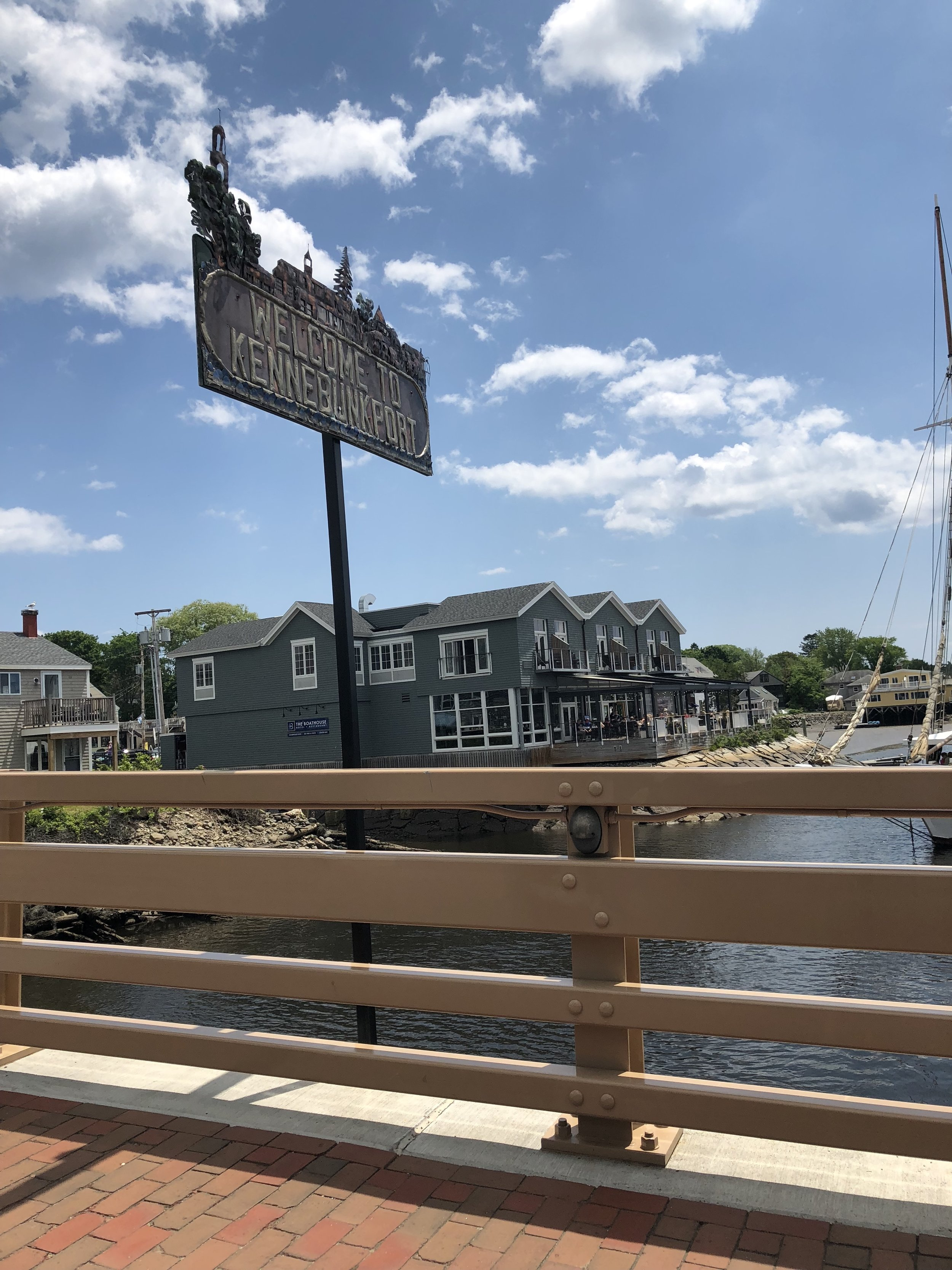 Downtown Kennebunkport on the way to Acadia