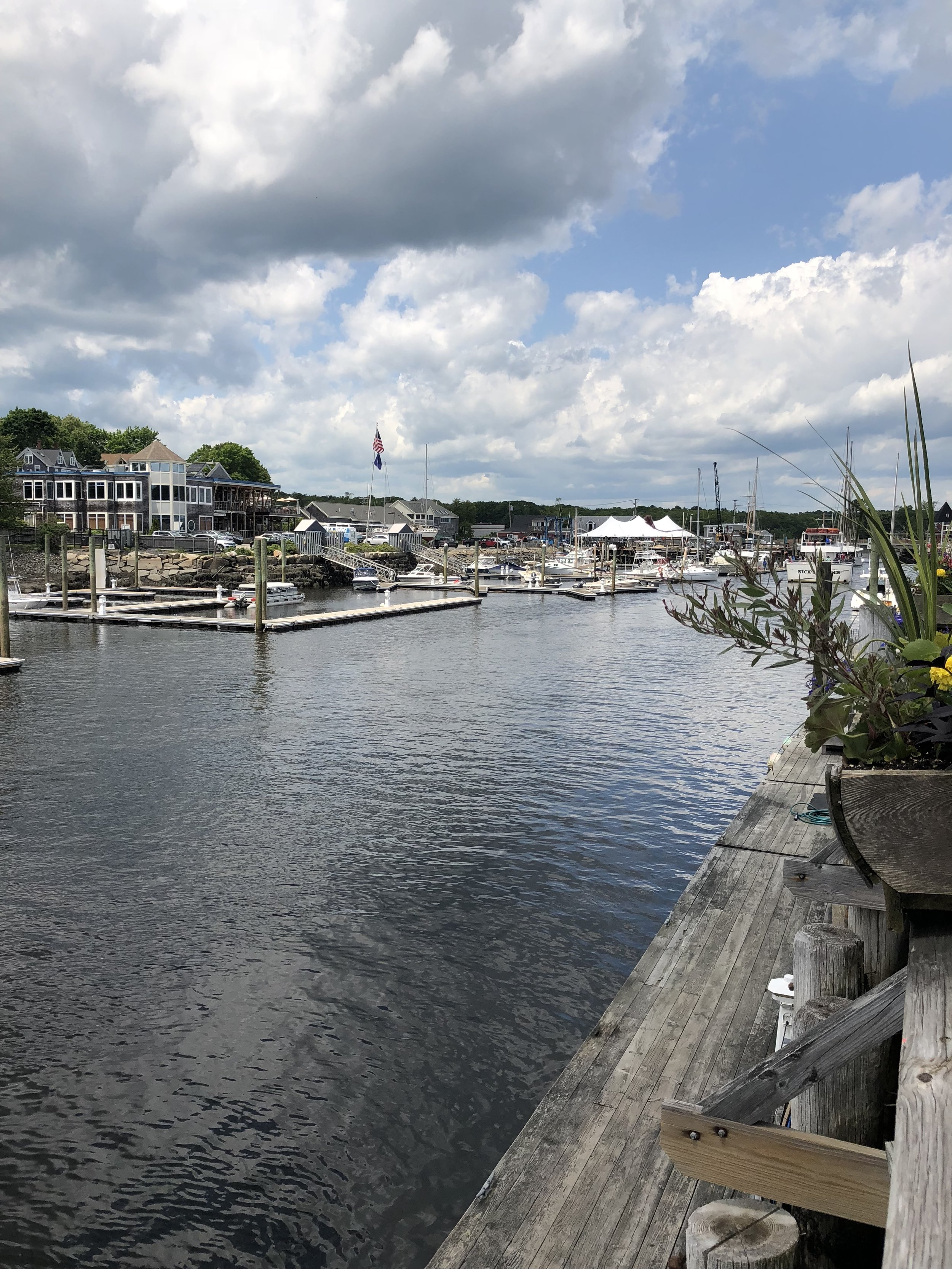 View from Arundel Wharf in Kennebunkport on way to Acadia