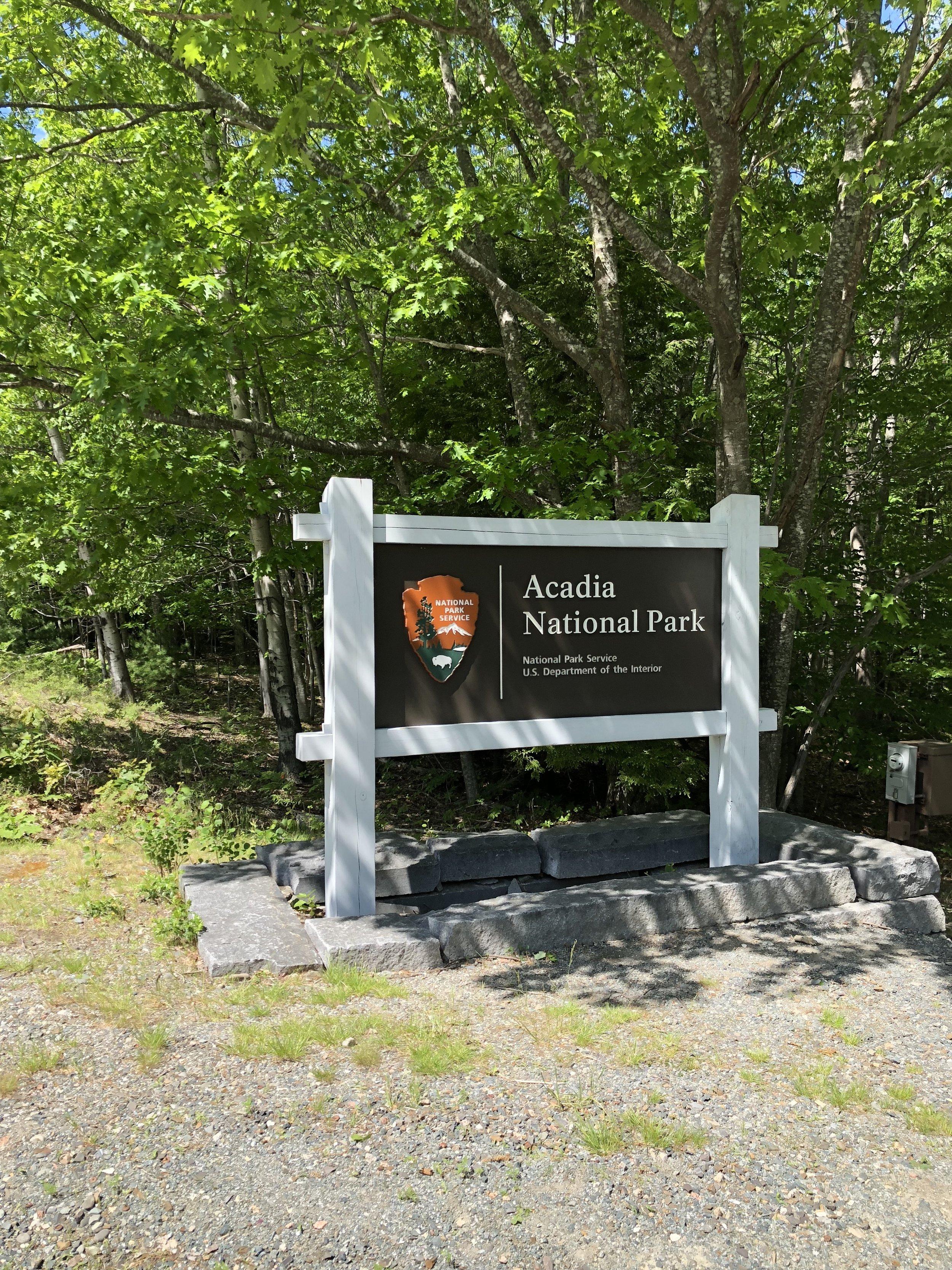 Acadia National Park Sign