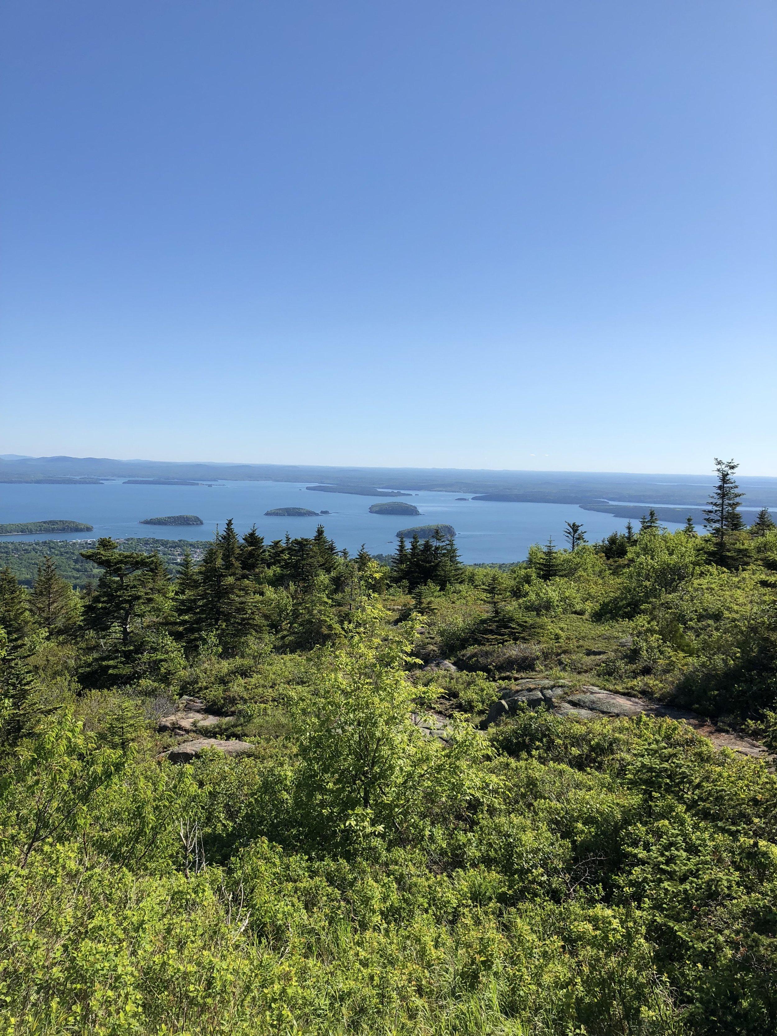 View from Cadillac Mountain at Acadia