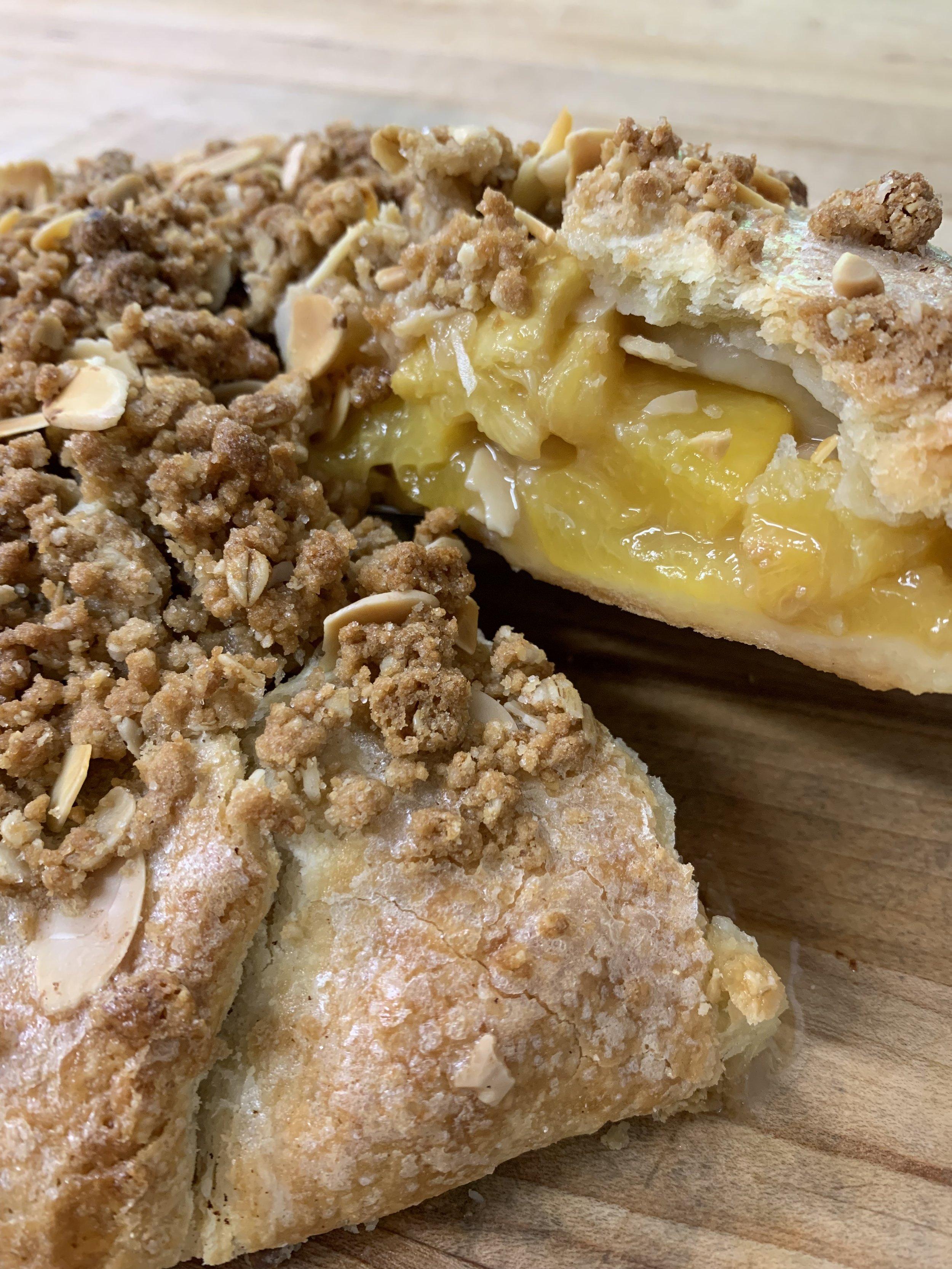 Peach Almond Crostata from Savour Cafe & Bakery