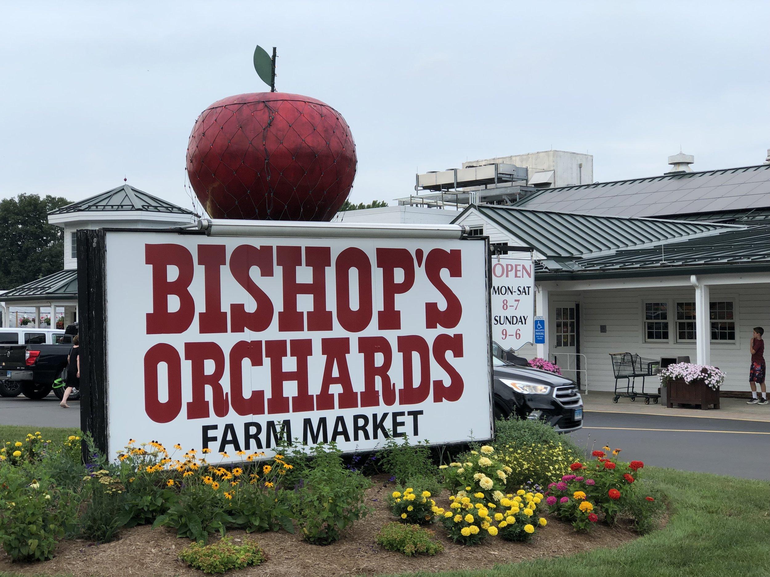 Bishop's Orchards Sign