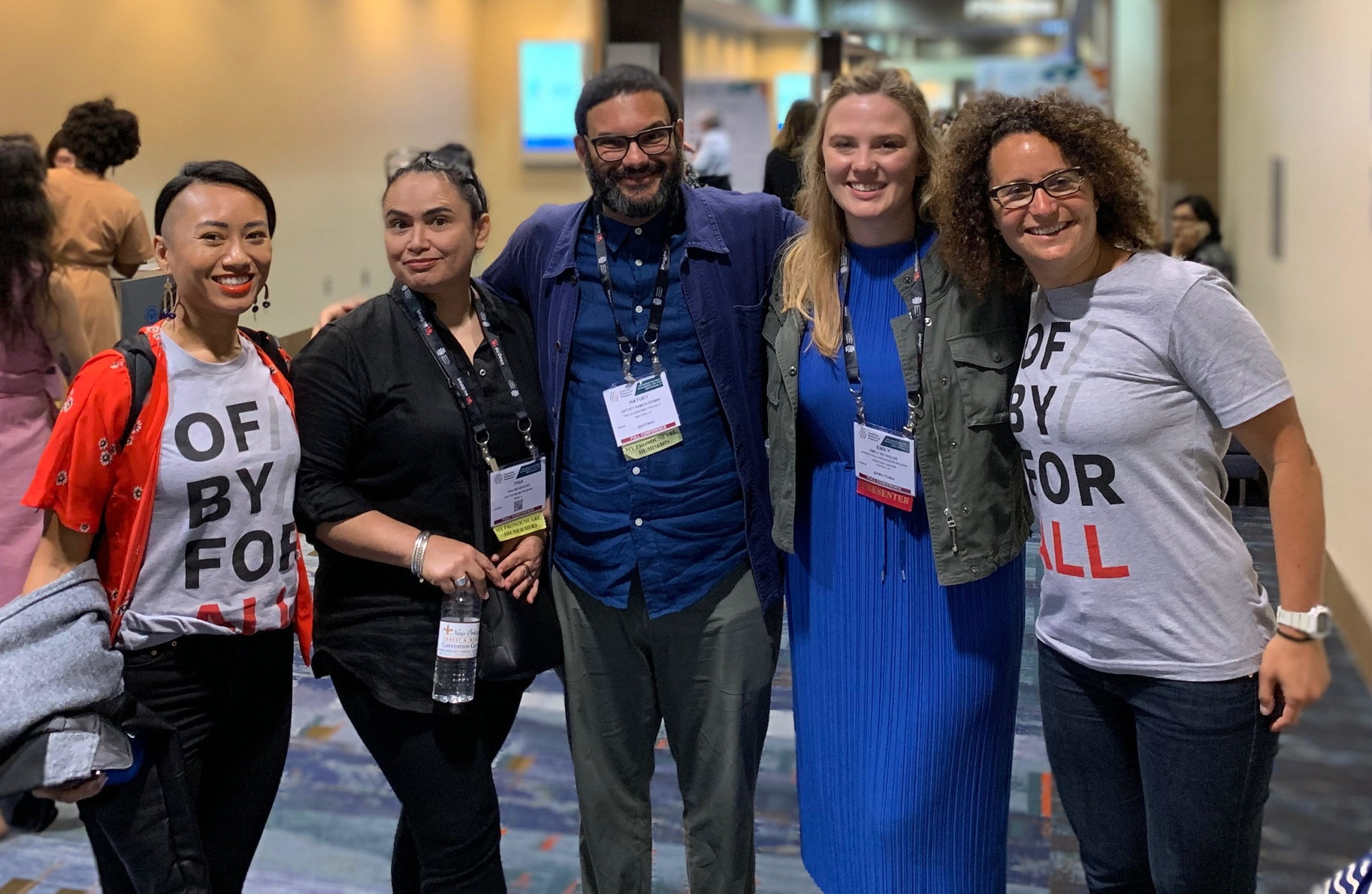 Celebrating in-person connections with Change Network members at the AAM annual meeting.