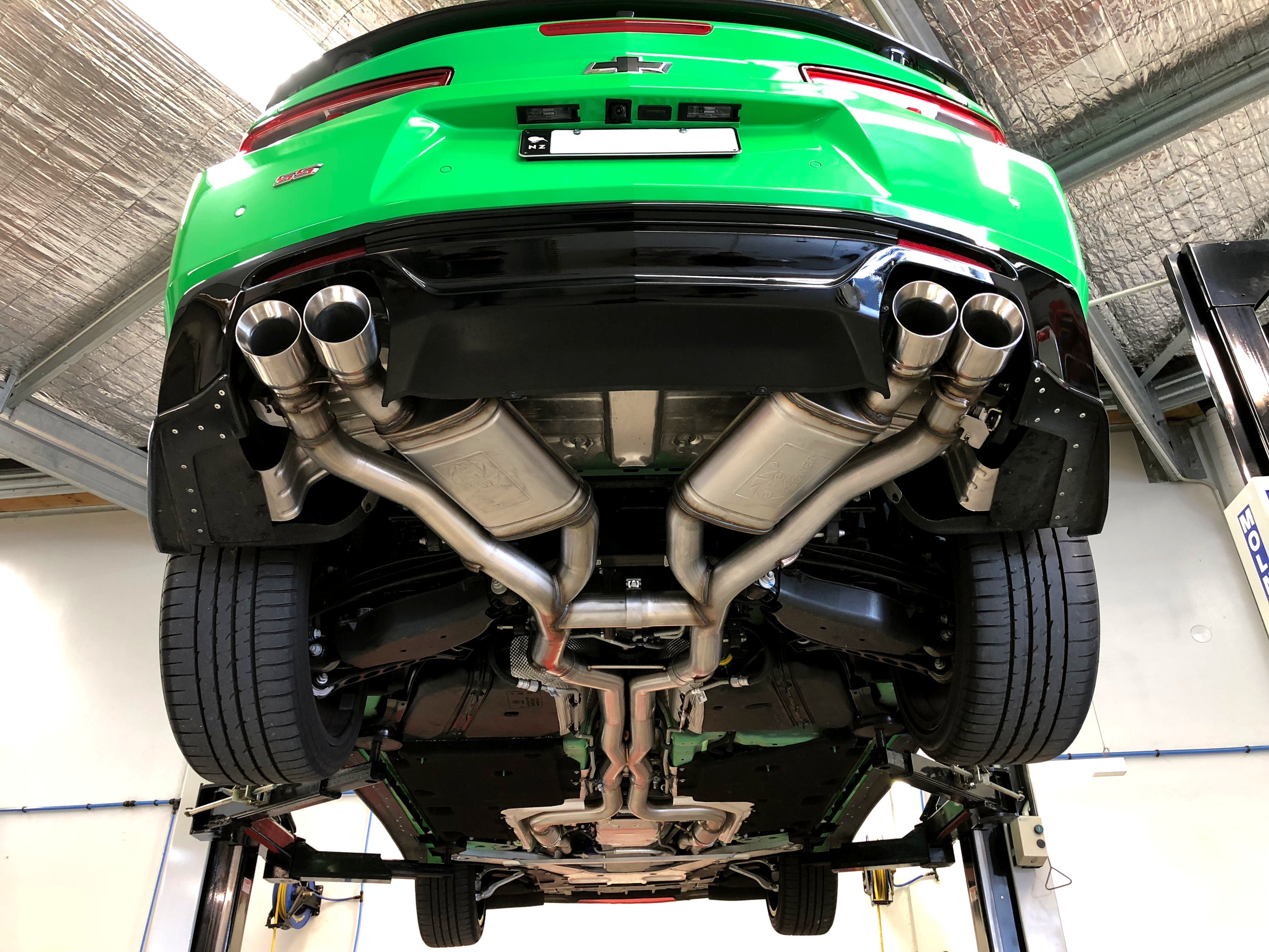 """AFE Power MACH Force-Xp 3"""" 304 Stainless Steel Axle-Back Exhaust System"""