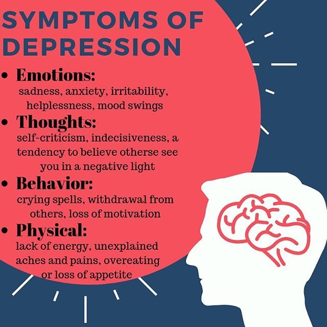 A major depressive disorder lasts for at least two weeks and affects a person's ability to perform regular daily tasks and activities which impacts their ability to have satisfying personal relationships. Mood disorders affect nearly 1 of 10 adults in the U.S in a given year. Often, depression co-occurs with anxiety or substance use disorder. Above are a few general symptoms of depression.