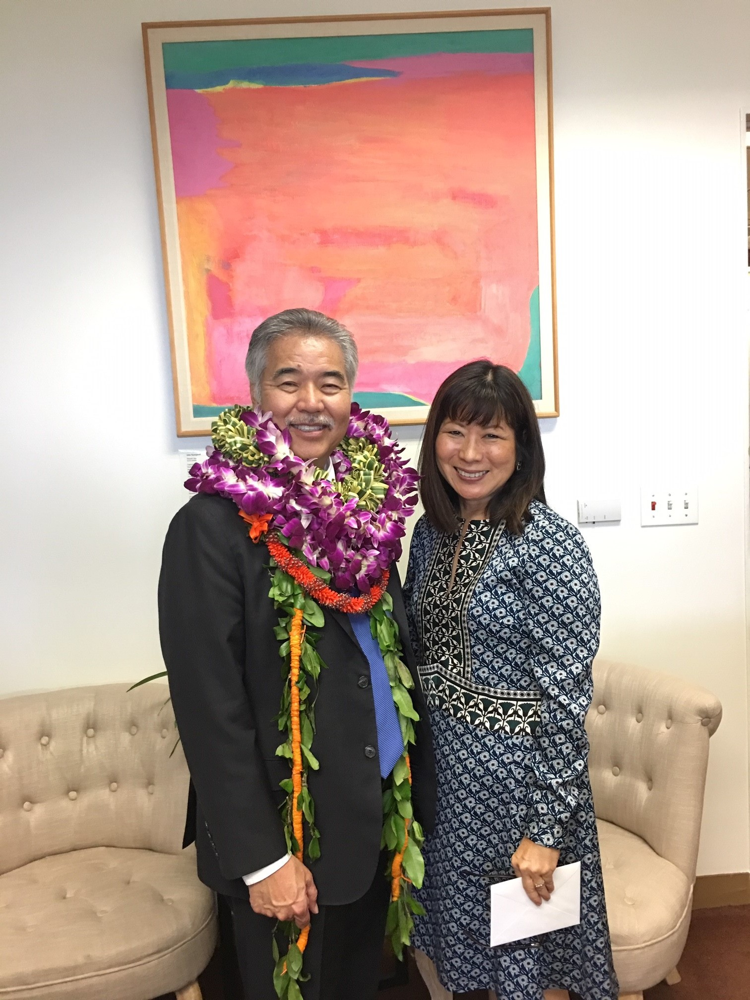 Representative Nakamura and Governor Ige.jpg