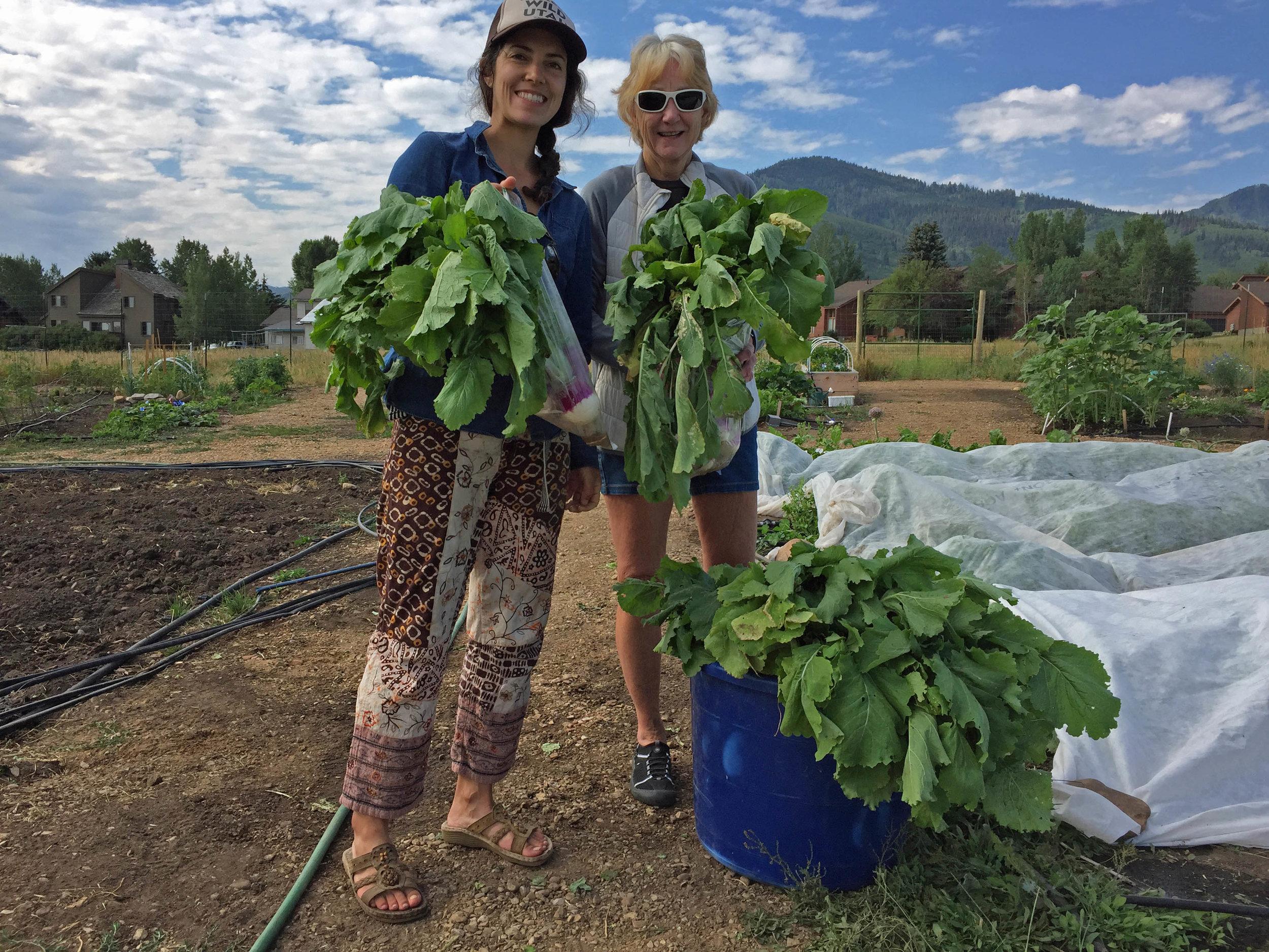 Meghan & Debby with turnips.jpg