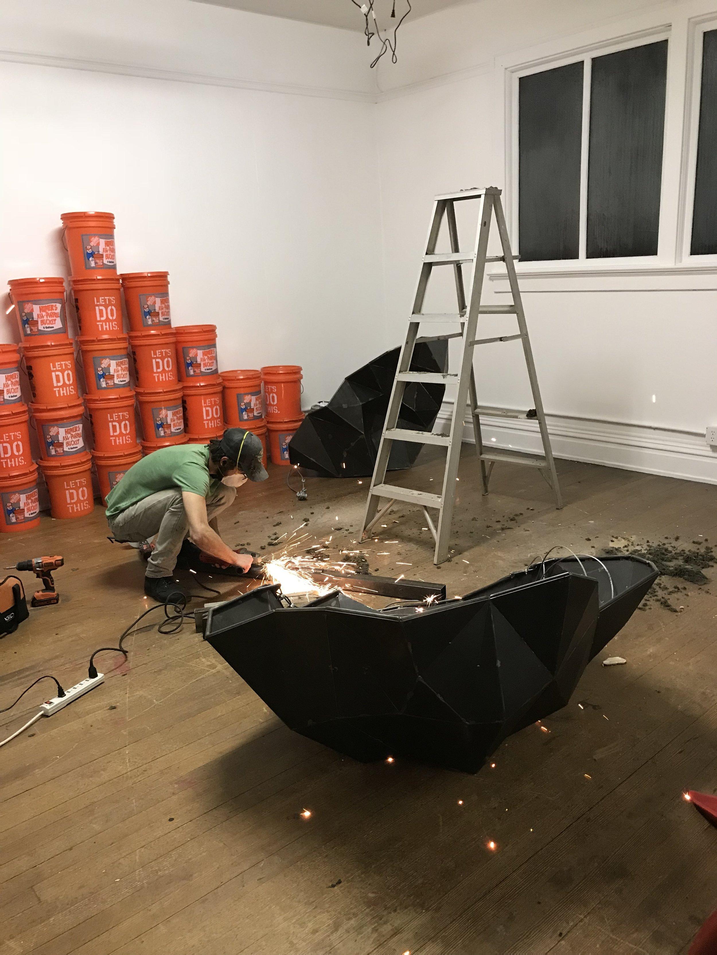 Joshua Shorey installing  A Whole Steadiness