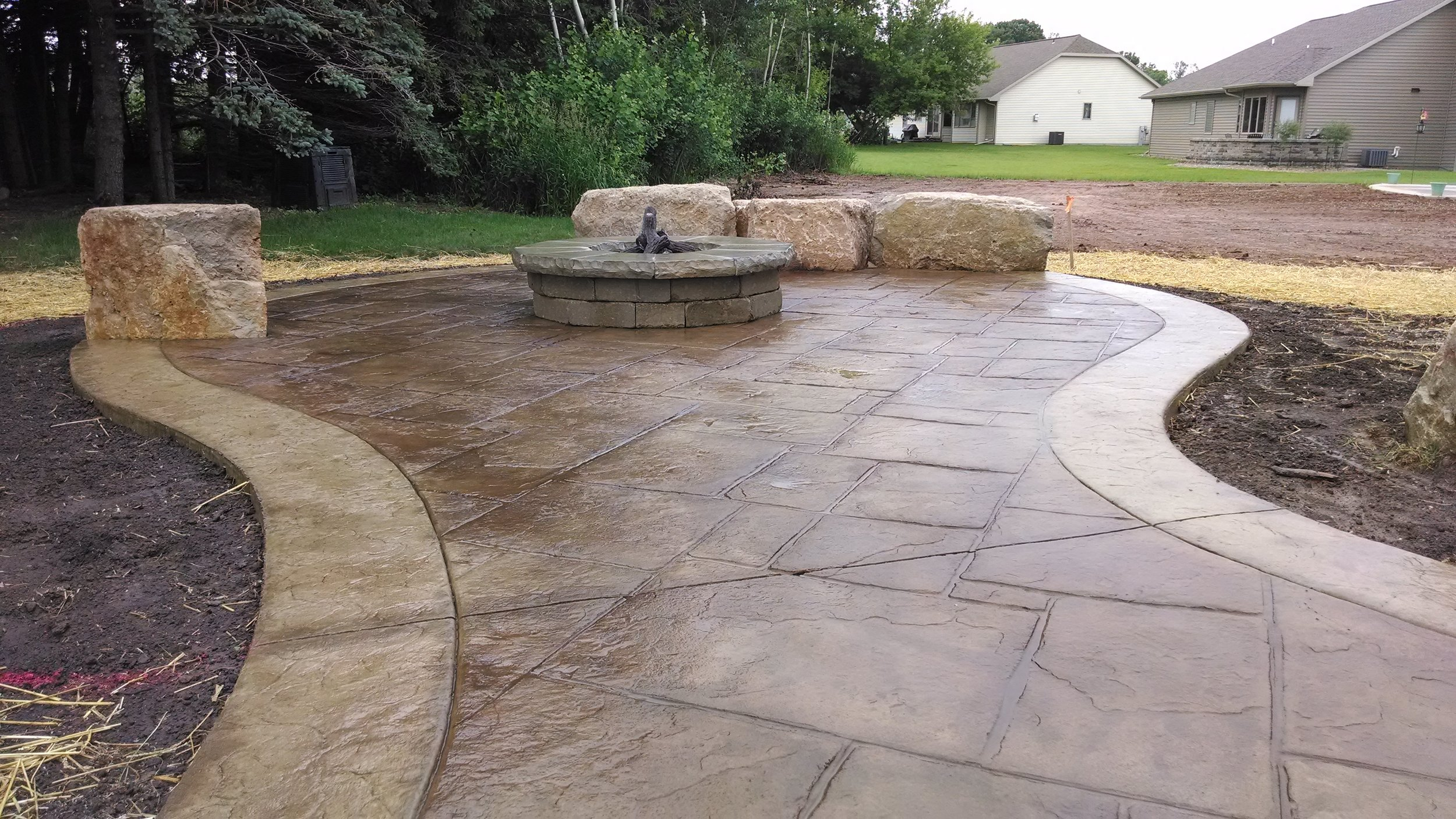 Stamped Concrete Finishes Curb N