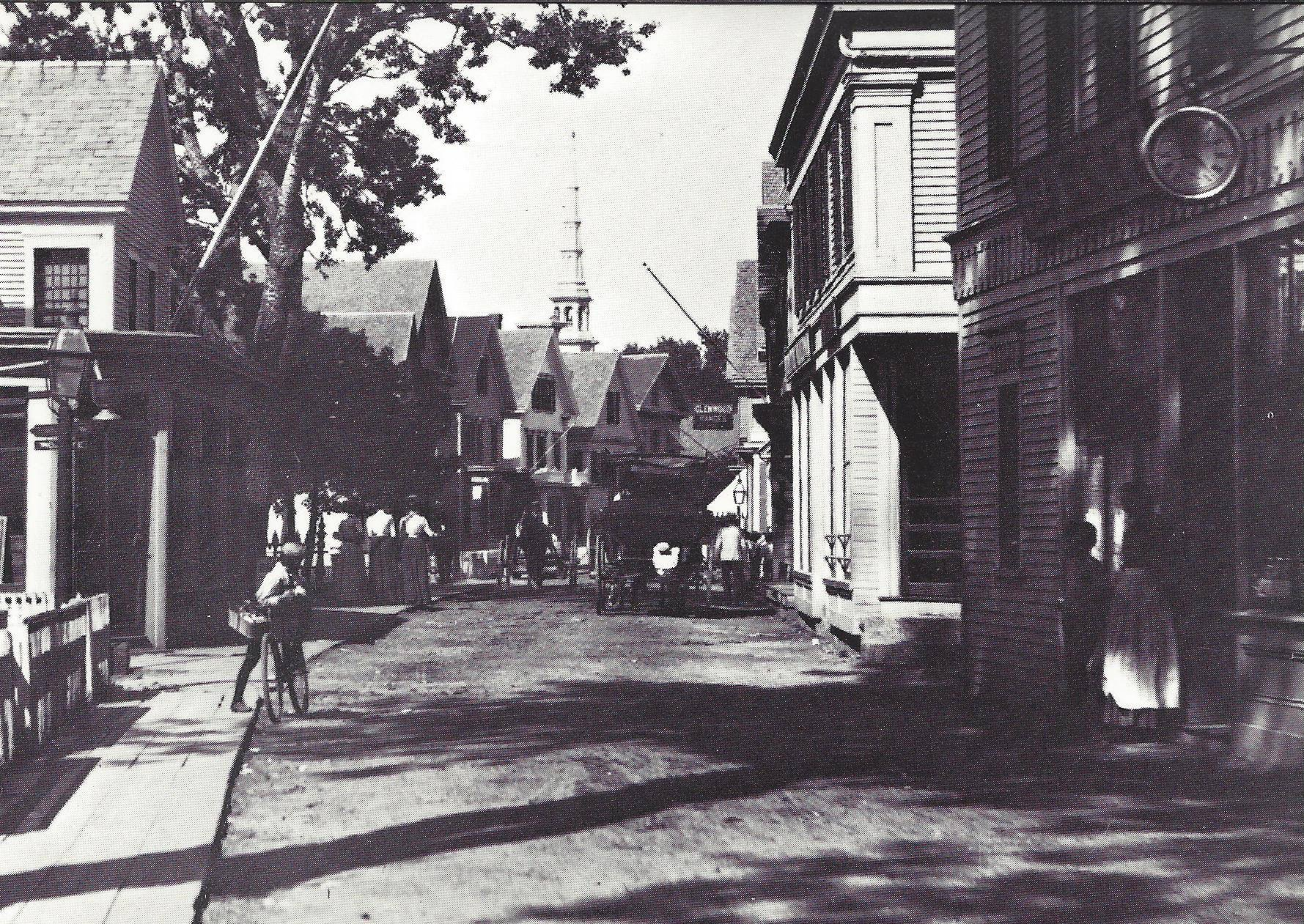 A bicycle on Commercial Street circa 1898.