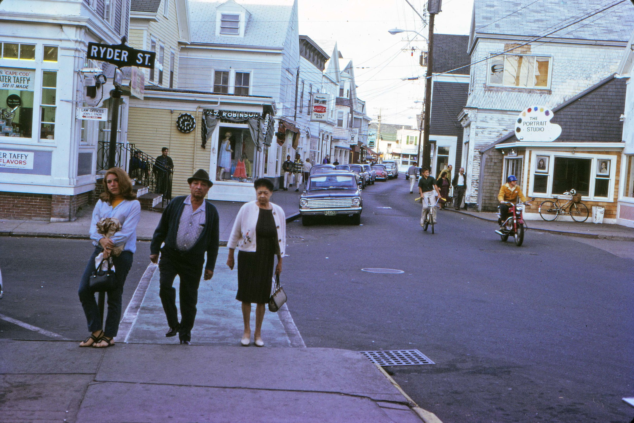 Commercial Street at Ryder Street in 1967.
