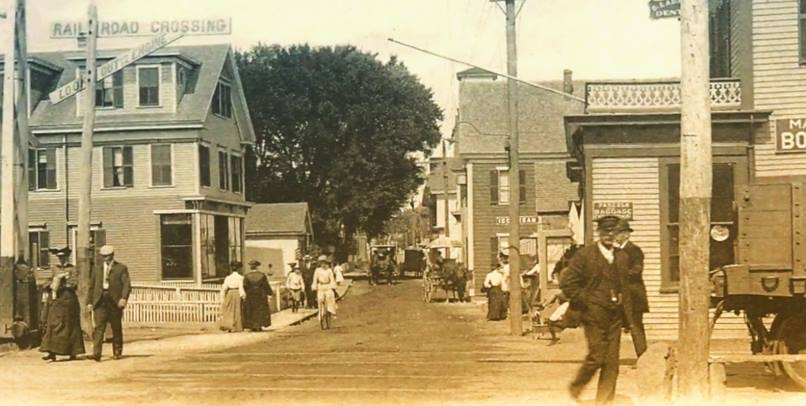 Commercial Street at Standish Street c. 1890.