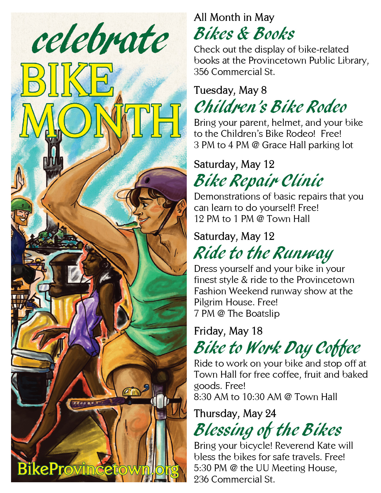 Bike Month Flyer. Download: PDF, JPG