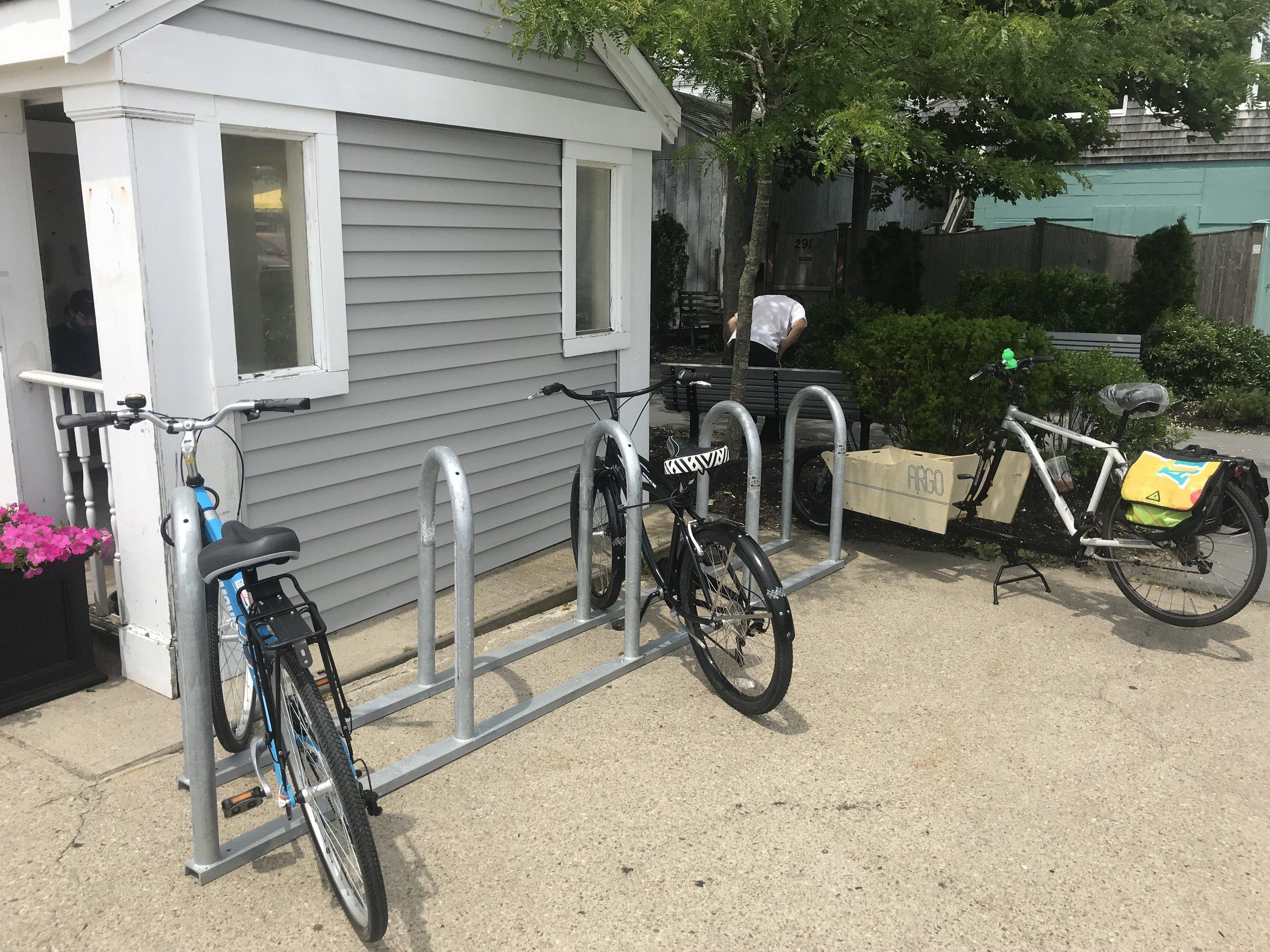 After - One 10-bike Saris corral rack