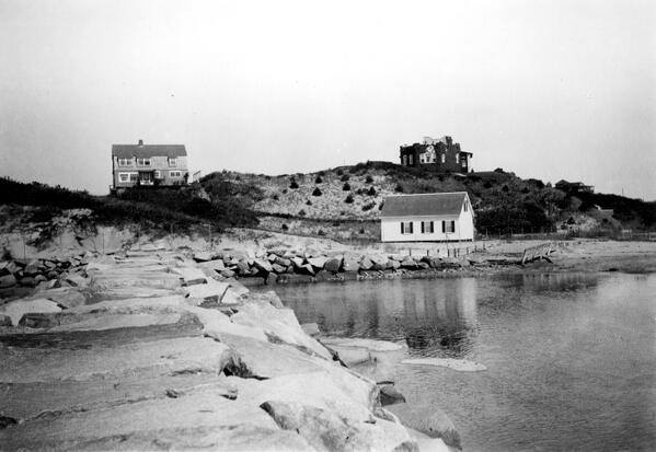 """The Breakwater shortly after construction in 1919. It was """"so smooth you could ride a bike across it."""" (Steve Silberman)"""