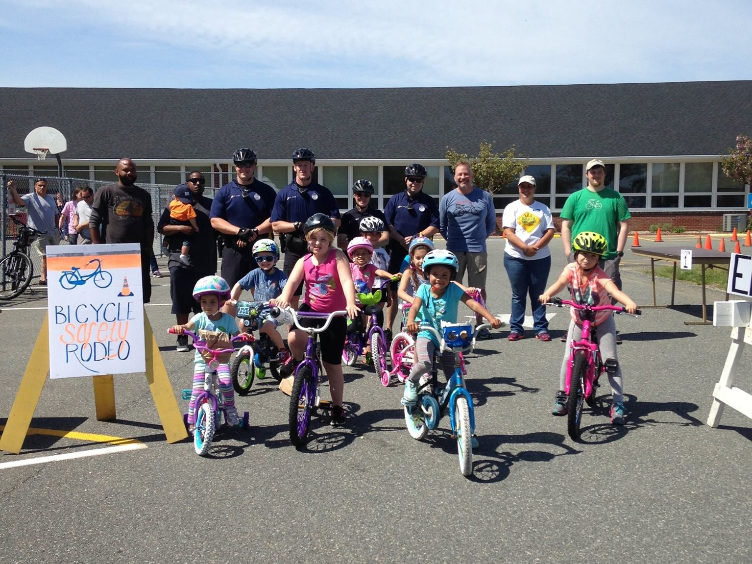 Participants at the 2016 Children's Bike Rodeo!