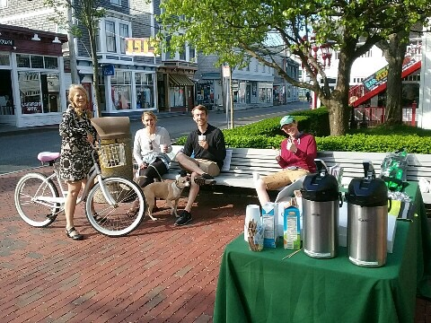 Provincetown bike to work day coffee at Town Hall.jpg